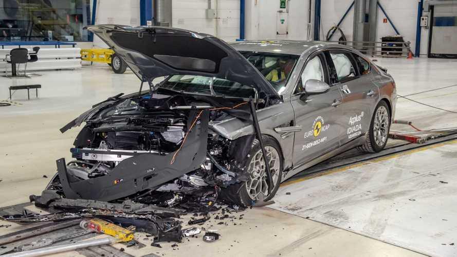 Watch Genesis G80, GV80 crash their way to 5-star Euro NCAP rating