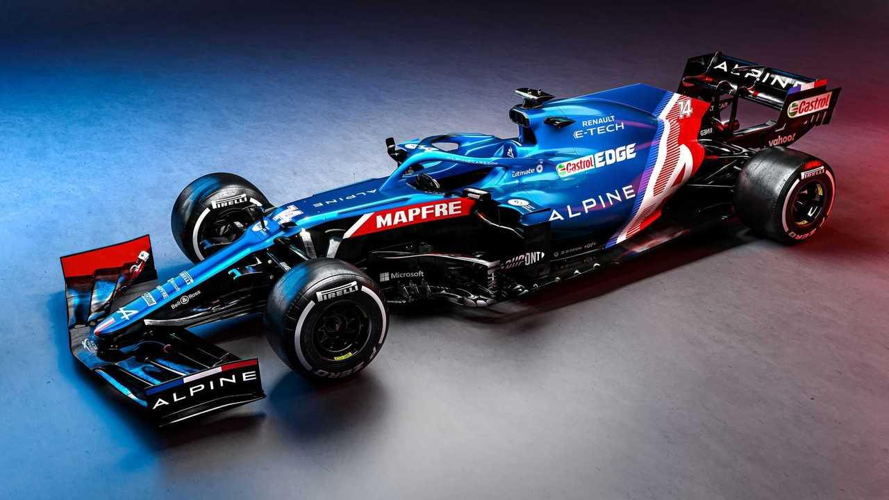Alpine A521 Formula 1 car front quarter