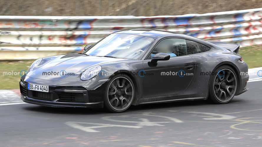 Porsche 911 Sport Classic spied looking retro on the Ring