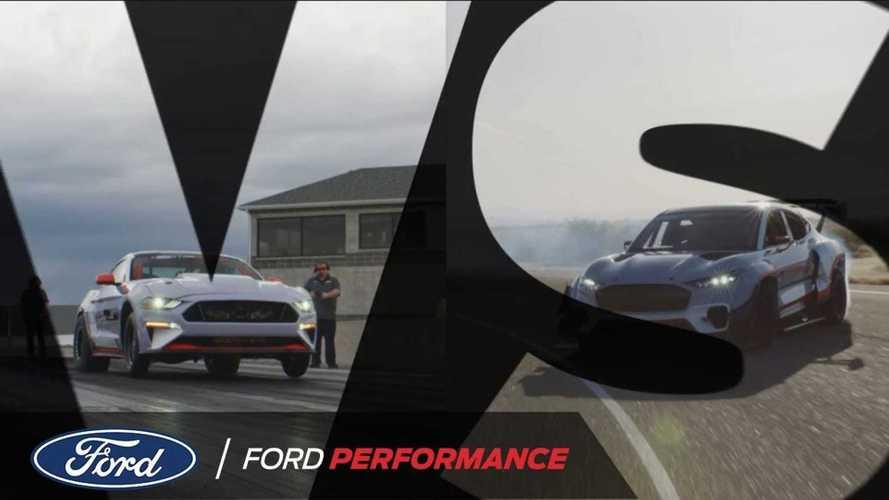 Ford EV Drag Race: Mustang Mach-E 1400 vs Mustang Cobra Jet 1400