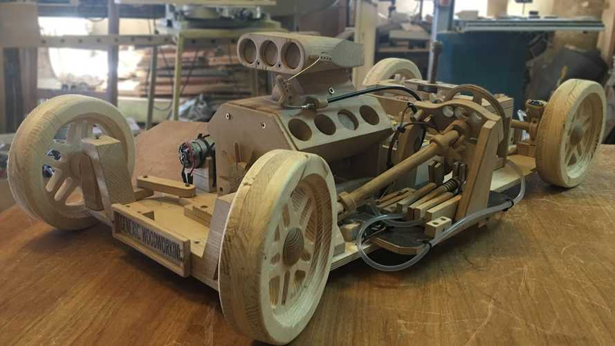 This Video Of A Working Wooden Model Car Isn't Nearly Famous Enough
