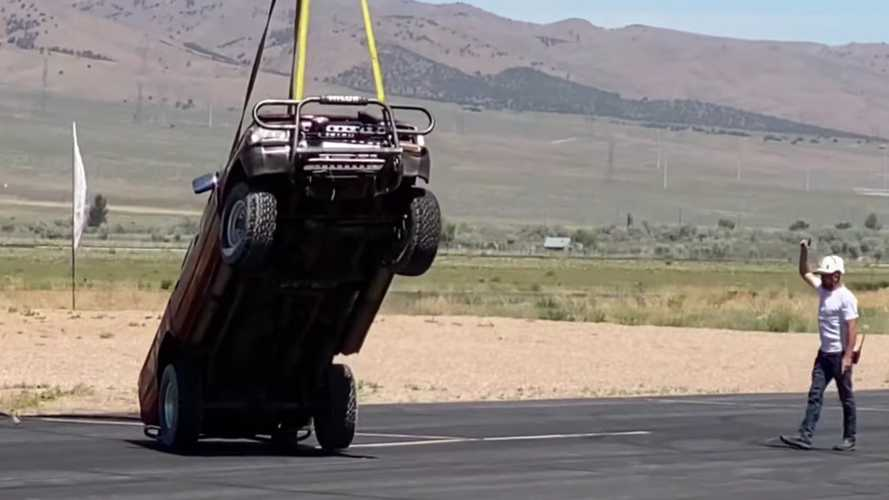 Toyota Hilux Dropped From 10,000 Feet Violently Ends Durability Tests