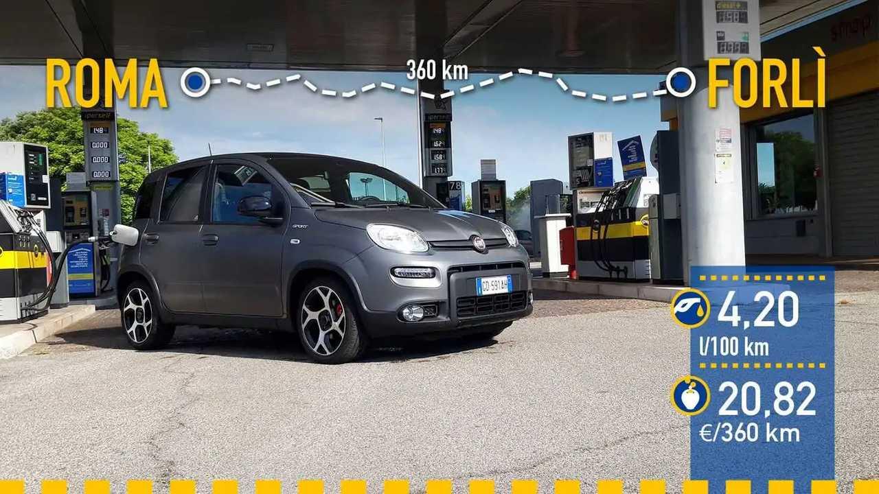 Fiat Panda Sport, prueba de consumo