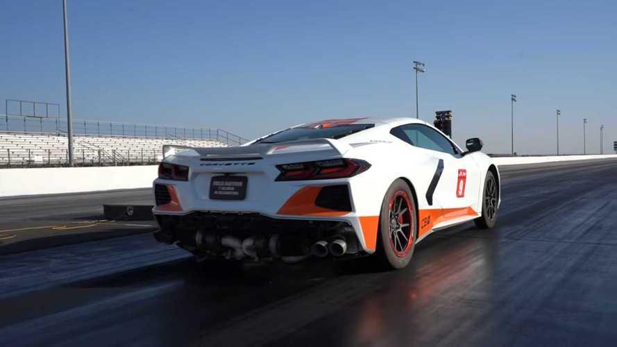 Twin-Turbo C8 Corvette Claims Quarter-Mile Record In Dramatic Style