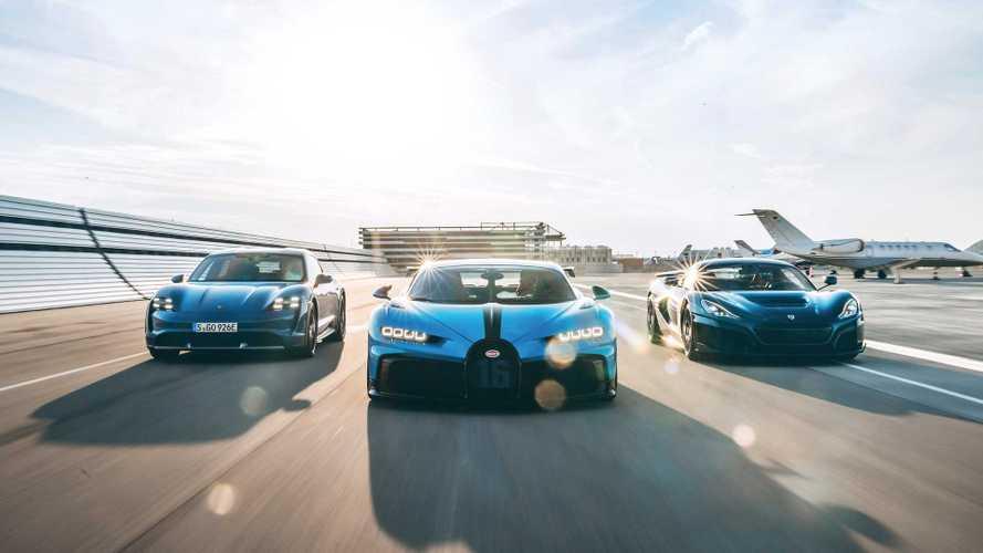 Porsche, Rimac und Bugatti gründen ein Gemeinschaftsunternehmen