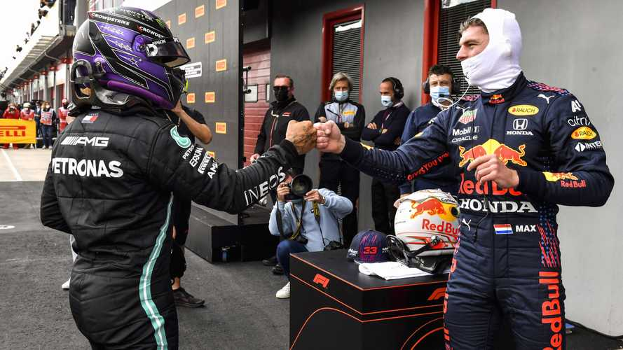 Verstappen/Hamilton F1 shoulder brush sign of intense fight