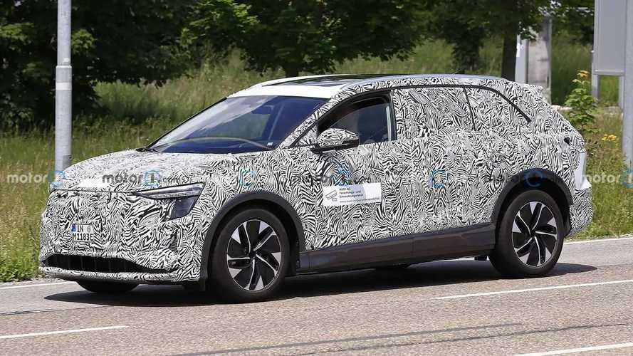 Neues Elektro-SUV von Audi als Erlkönig