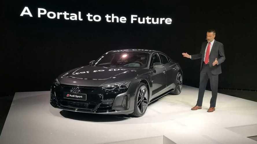 Audi RS E-Tron GT public debut in Sofia, Bulgaria