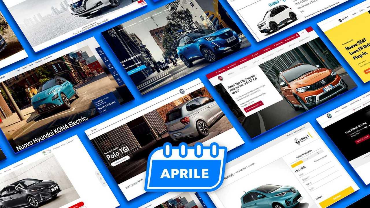 Promozioni auto, tutte le offerte di aprile 2021