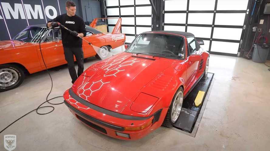 Rare RUF slantnose Porsche gets first wash in 10 years