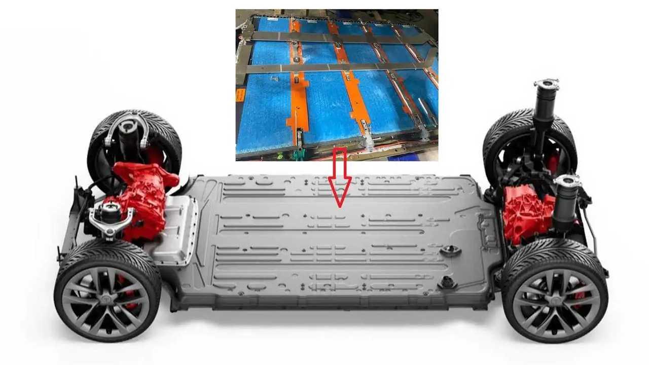 Tesla Model S Plaid new battery pack (source: Redditor u/rpunx)