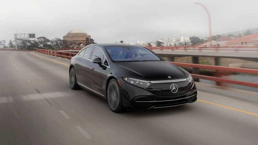 Test Drive Mercedes EQS 2022 di San Francisco