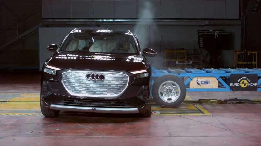 Audi Q4 e-tron, i crash test di EuroNCAP