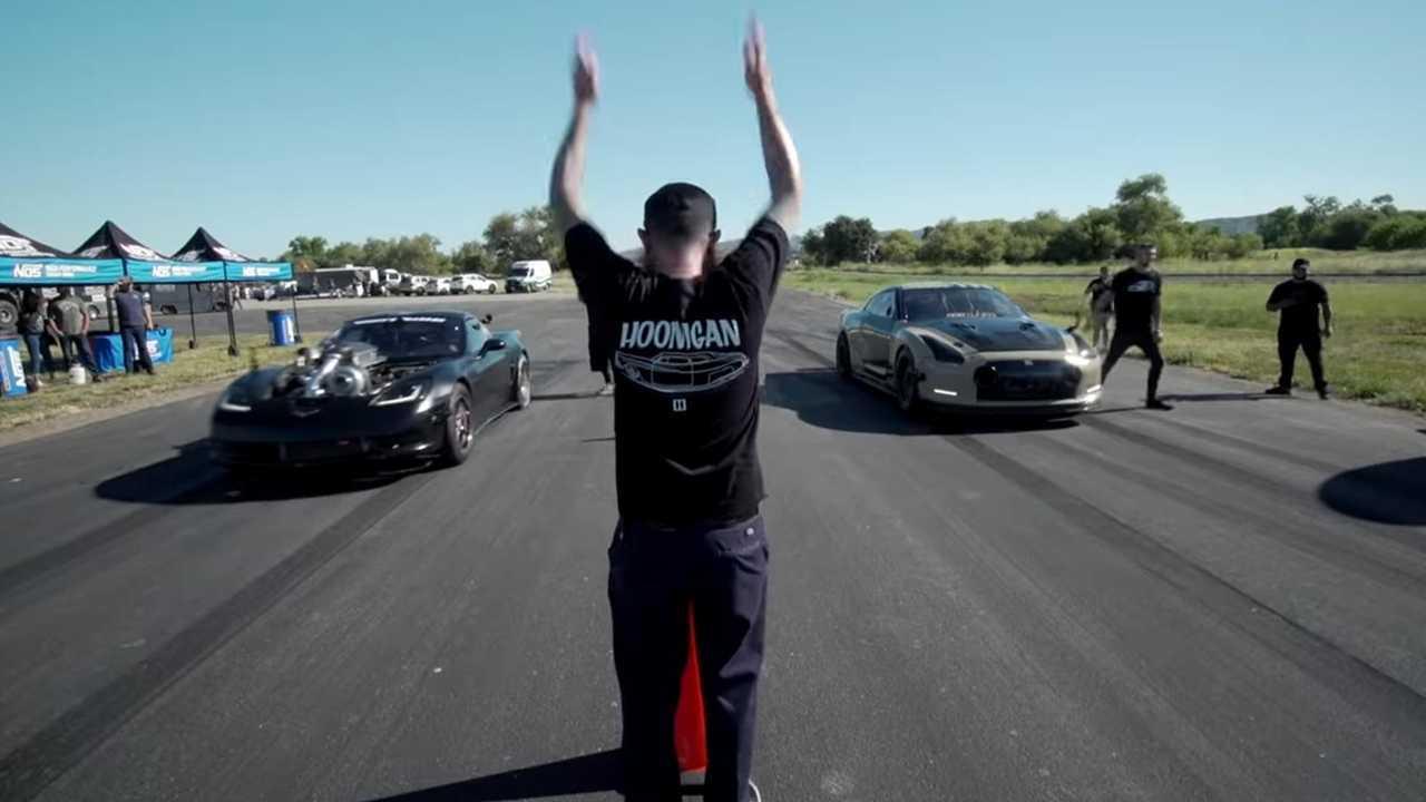 Hoonigan Nissan GT-R vs. Corvette