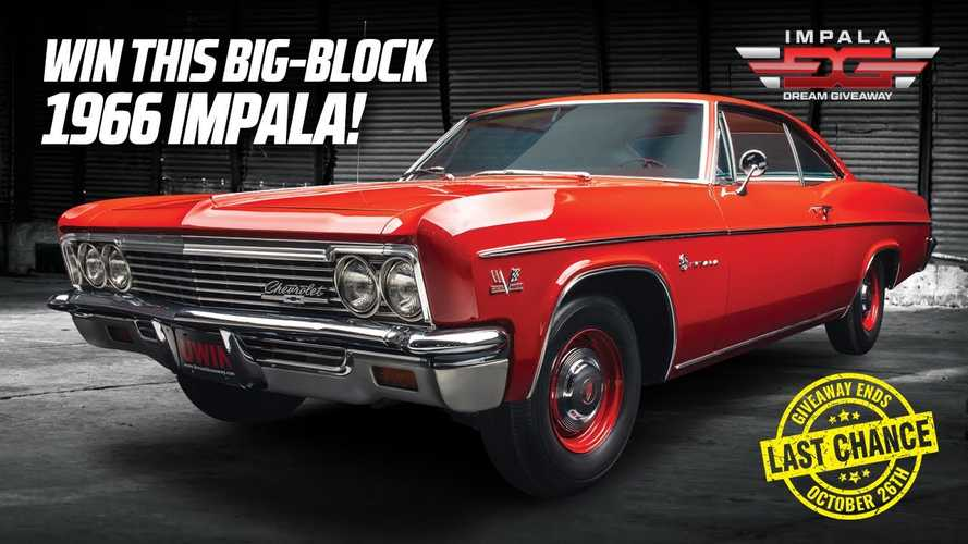 Final Call: Enter Now To Win This Restored 1966 Chevy Impala Sport Coupe