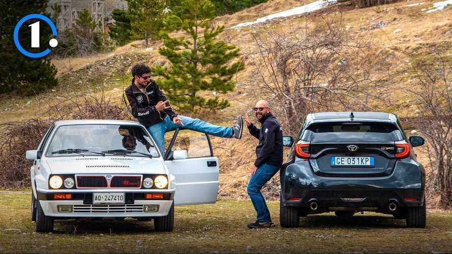 Toyota Yaris GR contro la Lancia Delta Integrale di Davide Cironi