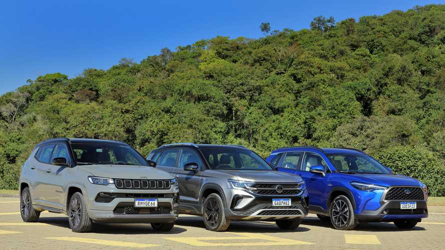 Jeep Compass lidera e Toyota Corolla Cross bate recorde em julho