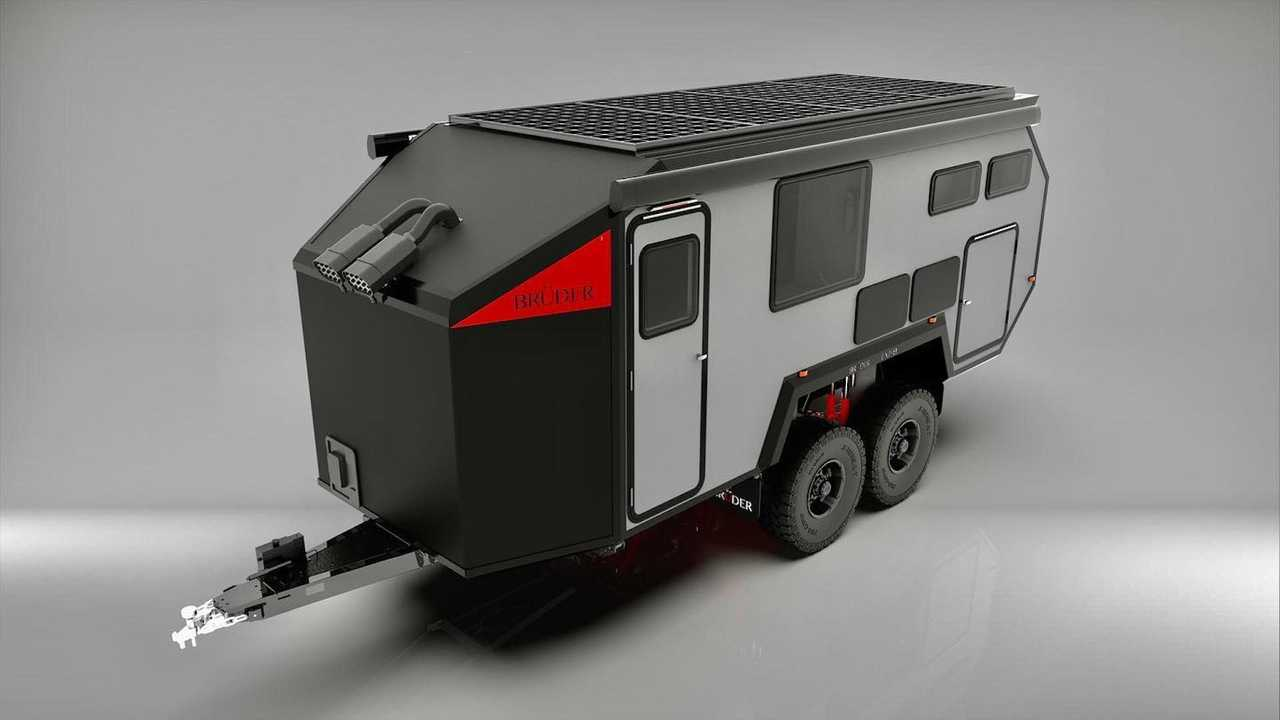 Bruder EX-8 Off-Grid Trailer untuk Berkemah.