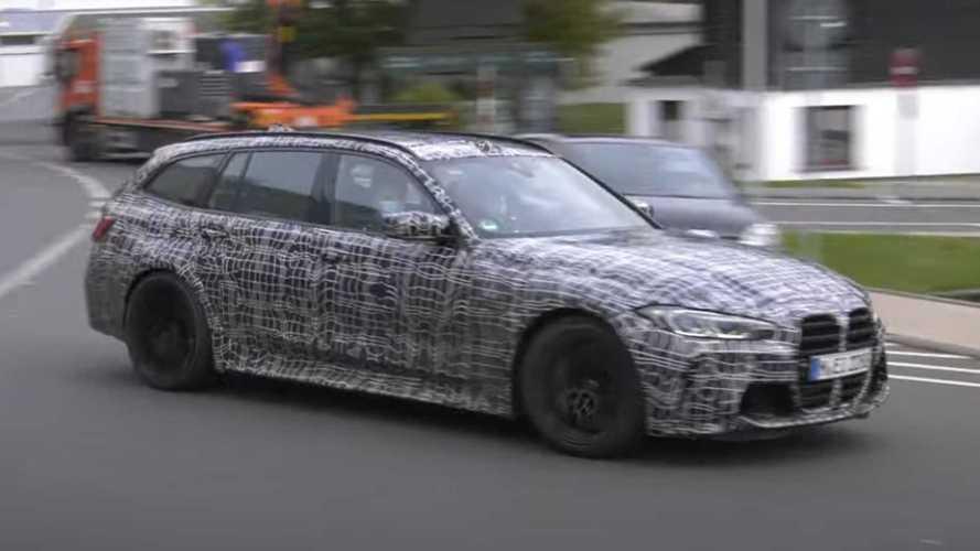 Универсал BMW M3 сняли на видео в окрестностях Нюрбургринга