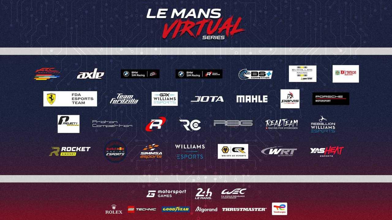 Teilnehmerliste für die neu gestartete Le Mans Virtual Series
