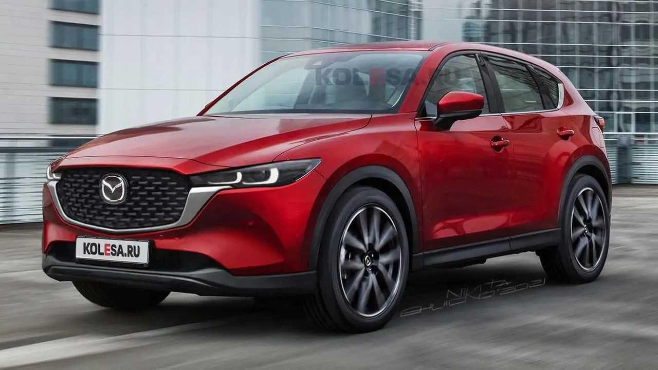 Mazda CX-5 2022 dibayangkan lewat rendering.