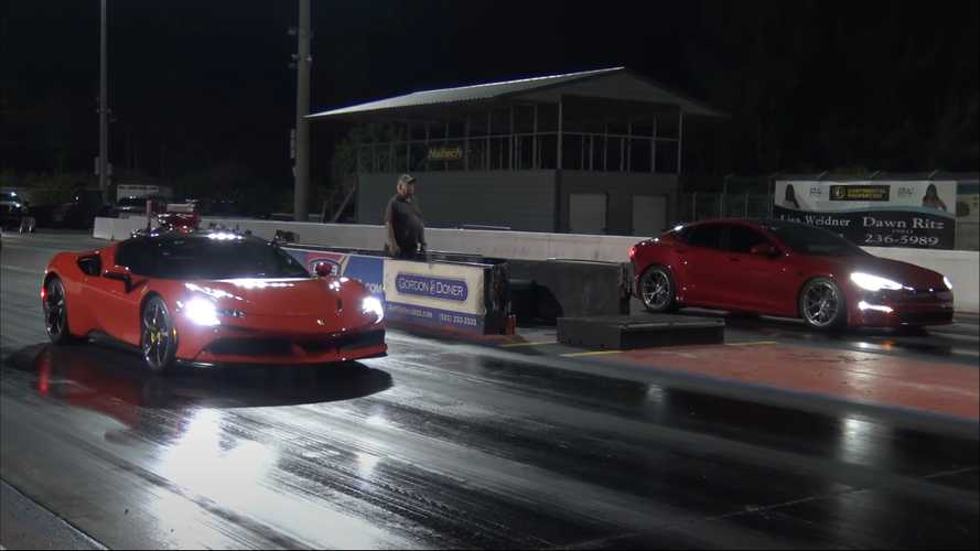 Ferrari SF90 Stradale Battles Tesla Model S Plaid In 5 Drag Races