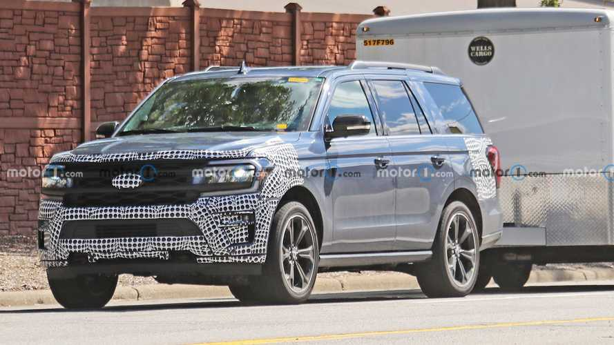 New Ford Expedition ST Spy Shots Capture SUV Towing A Trailer