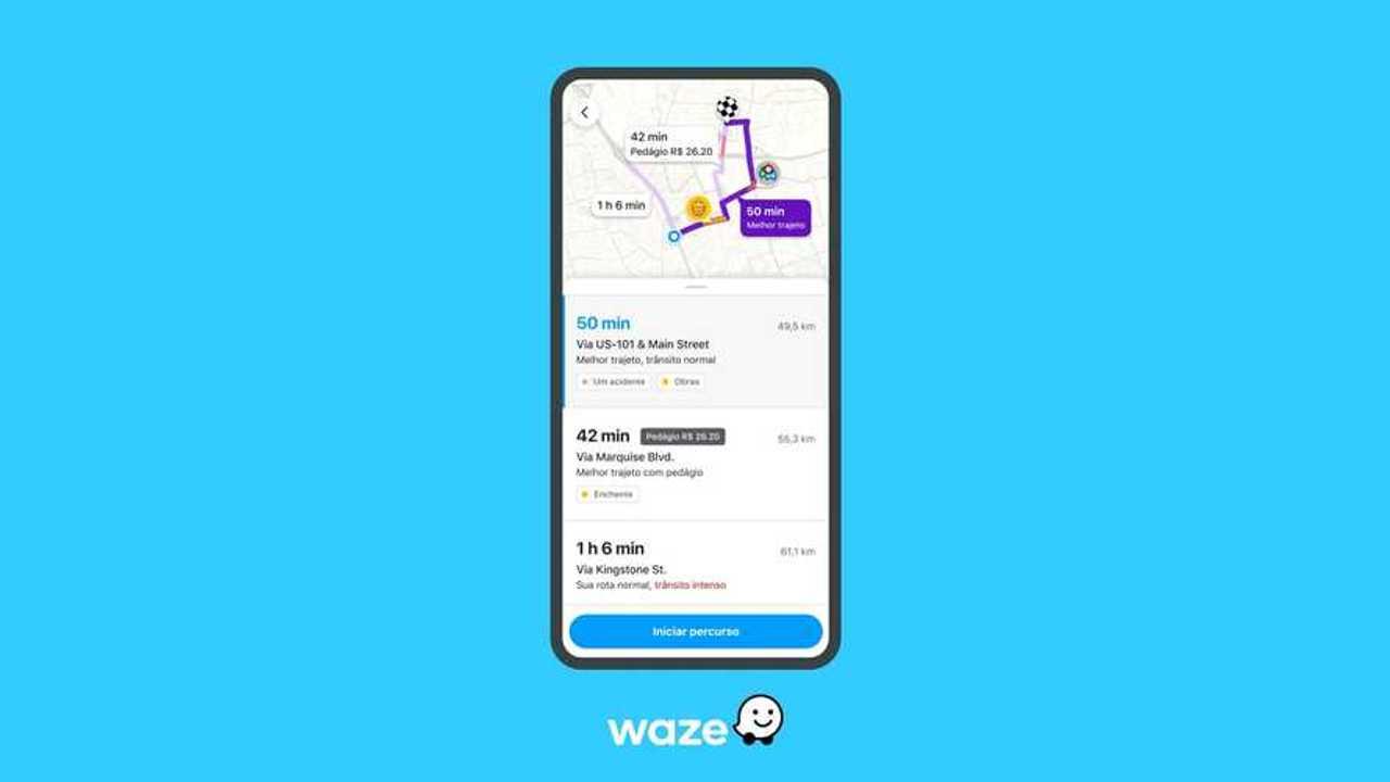 Waze - Novo planejamento de rotas