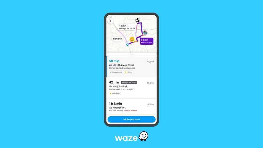 Waze agora mostra condições do trânsito antes de escolher rota