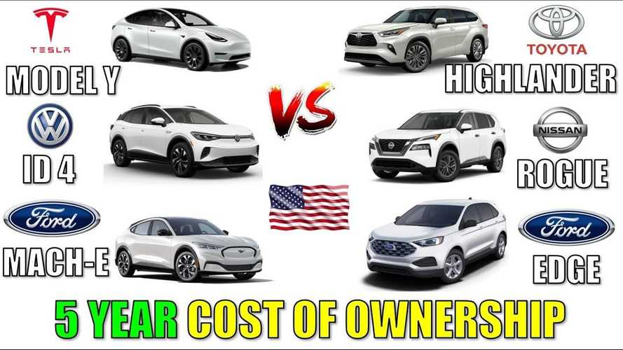 Tesla Model Y Ownership Cost Vs Mustang Mach-E, ID.4, Rogue, More