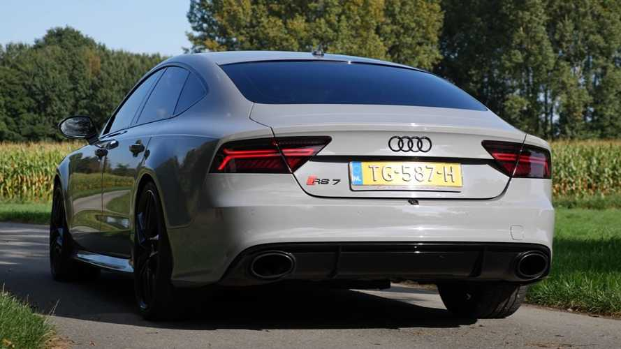Audi RS7 With Akrapovic Exhaust Sounds Delightfully Raw In Autobahn Run