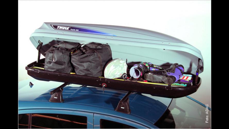 Dachboxen: Gepäck gleichmäßig verteilen