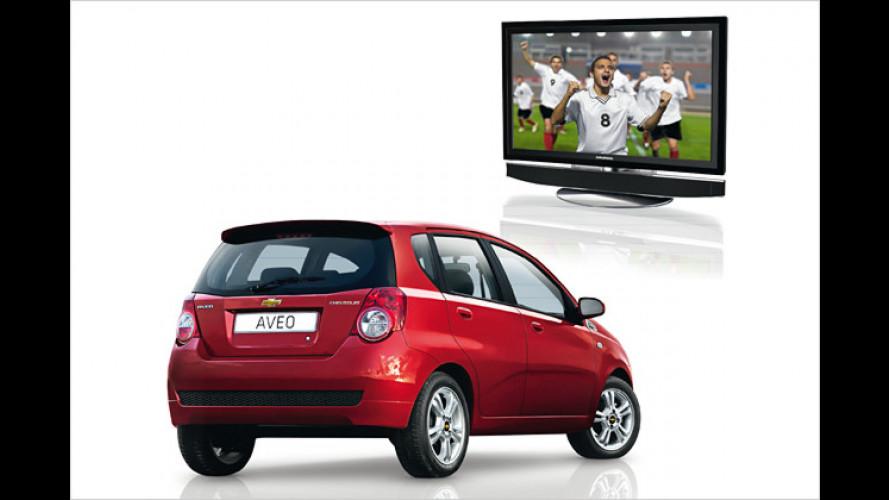 Chevrolet-Fan-Paket: Zum Auto gibt's einen Fernseher dazu