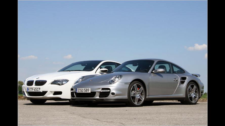 Die Unerschöpflichen: BMW M6 Coupé vs Porsche 911 Turbo