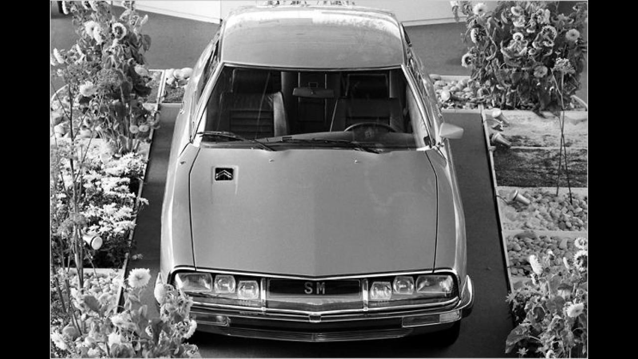 1970 gehörte Maserati mehrheitlich zu Citroën. Und so kam der Citroën SM mit Maserati-Motor nach Genf – die Presse hat ihn damals sicher als
