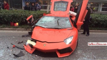 Lamborghini Aventador crash in China