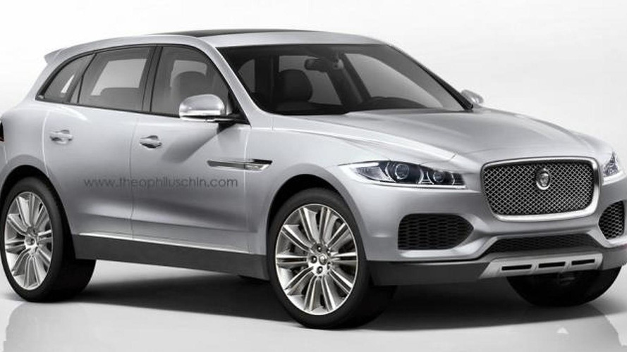 Jaguar C-X17 rendered in production form