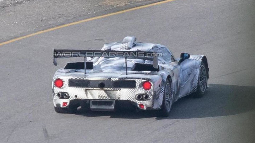 Ferrari LMP1 prototype spied testing in Europe