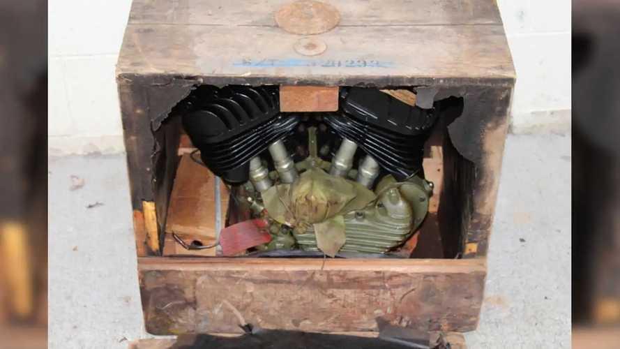 1942 Harley-Davidson WLA 45 Engine - Crated