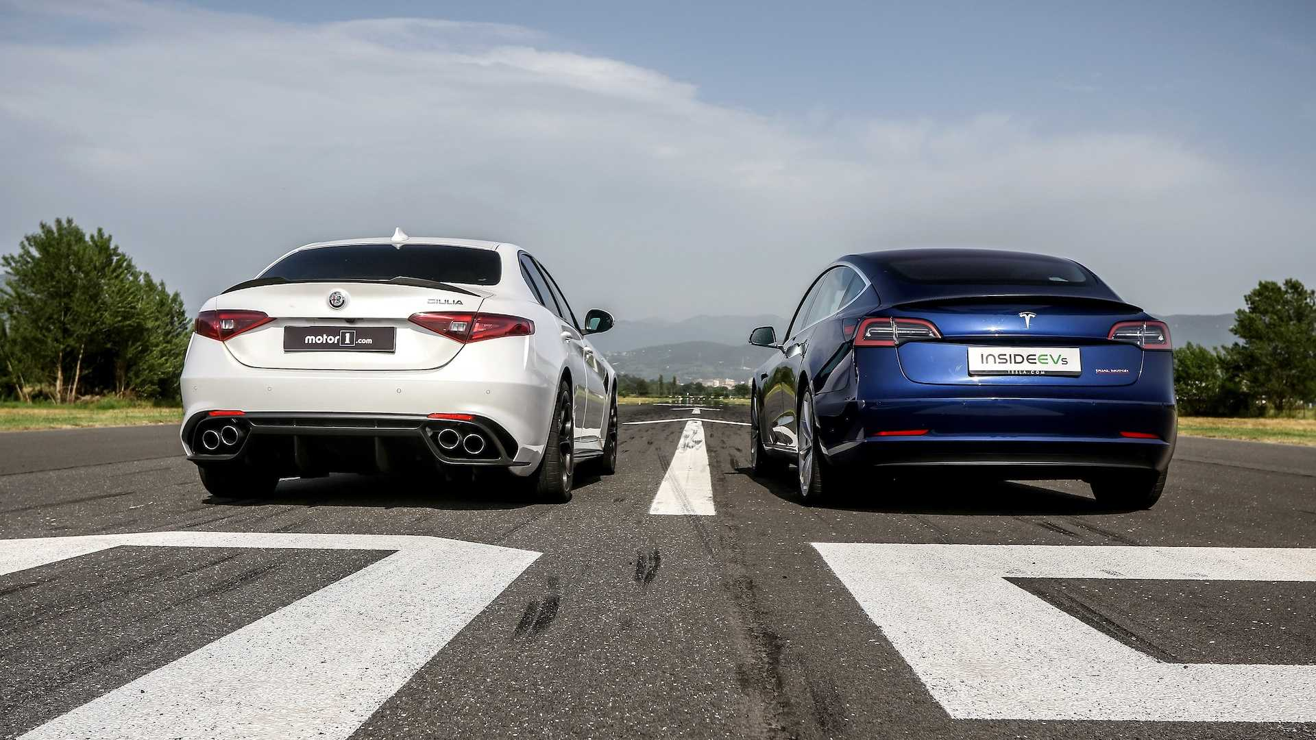 Tesla Model 3 vs. Alfa Romeo Giulia Quadrifoglio, ¿cuál ...