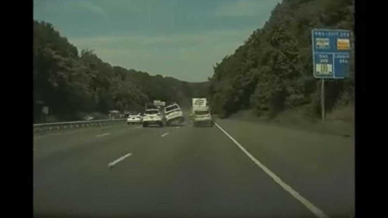 crash caught on teslacam