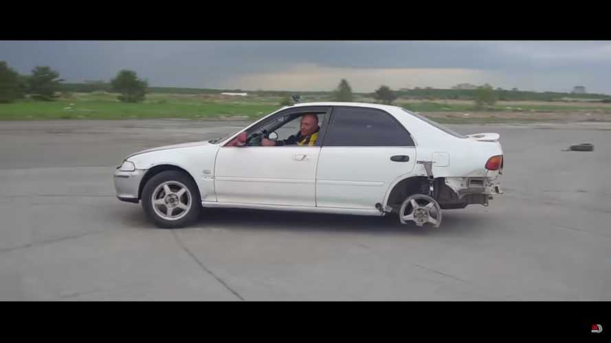 See What Happens When A Car Is Driven For Miles With Handbrake On
