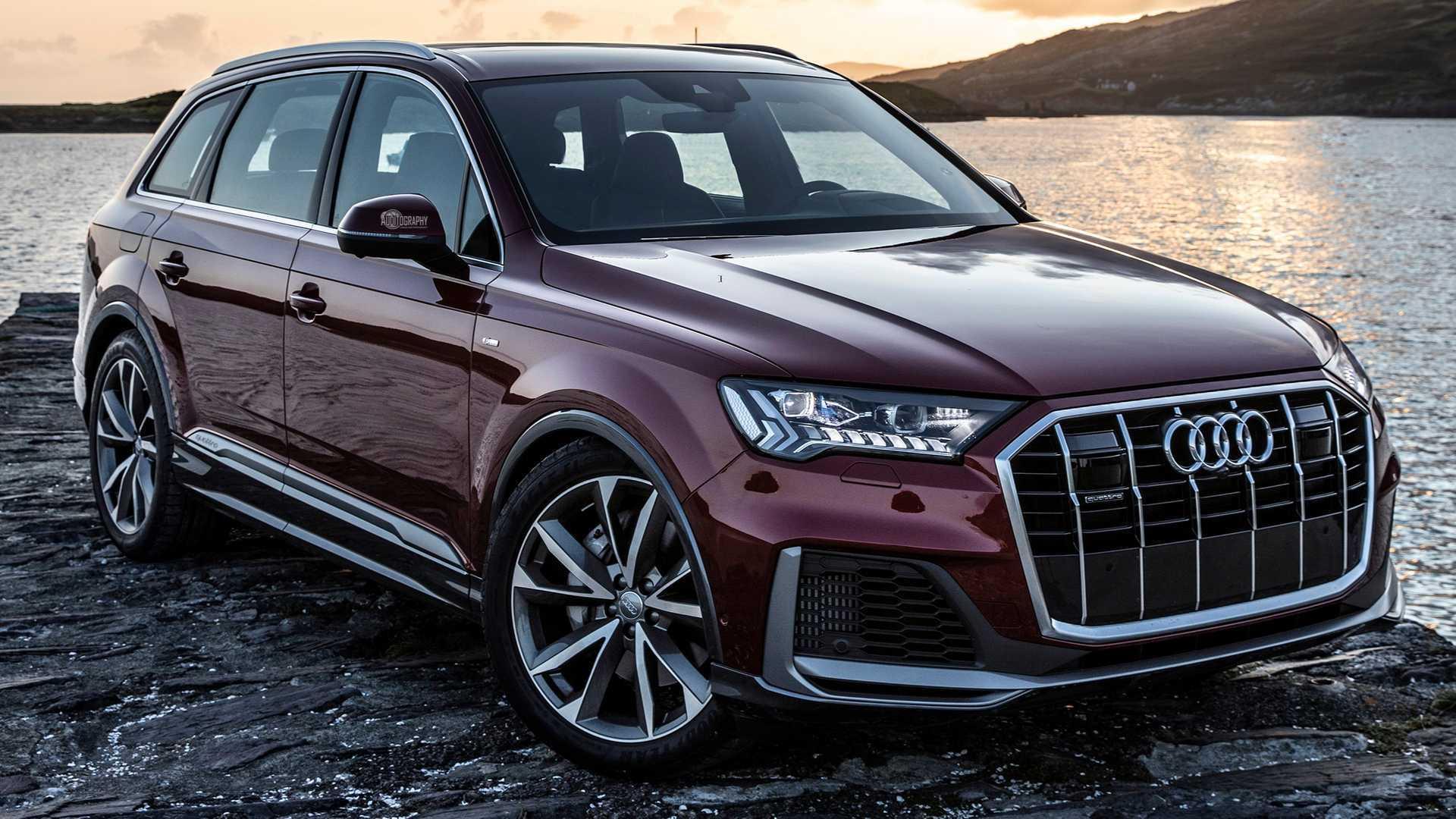 Audi Suv Q7 >> 2020 Audi Q7 Matador Red Poses For The Camera To Show Big Update