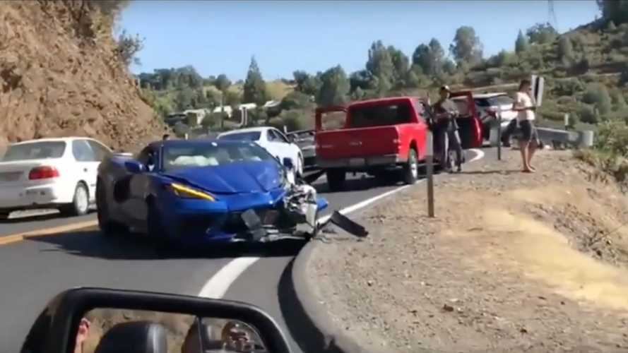 All-new Corvette C8 crashes in public for first time