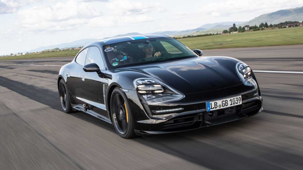 2020 Porsche Taycan at Lahr Airport
