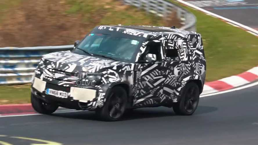 Land Rover Defender 110 Spied Lumbering Around The Nürburgring