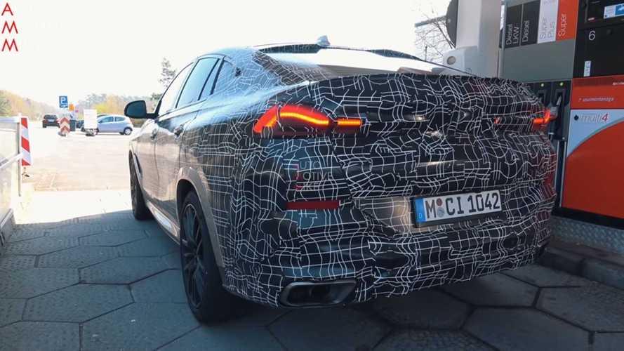 BMW X6 M50i casus görüntüler