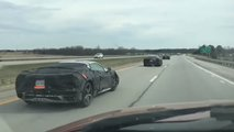 Mid-Engined Corvette Fleet Spy Shot