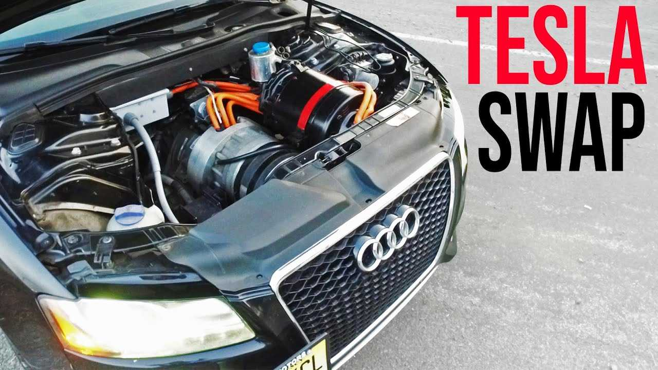 motor swap  check out this audi s5 with a tesla model s soul
