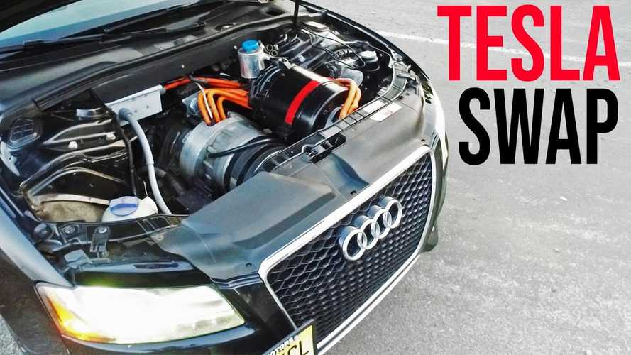 Motor swap? Check out this Audi S5 with a Tesla Model S conversion